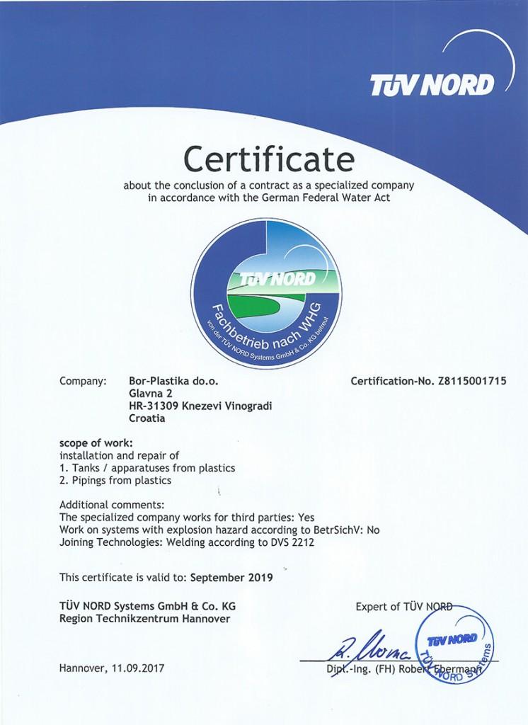 unternehmen whg zertifiziert